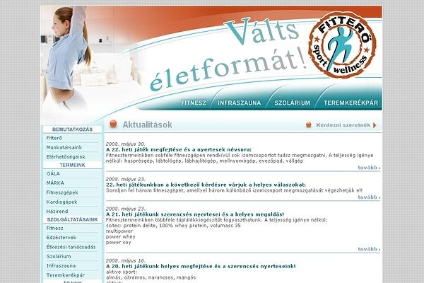 Fitterő honlapja