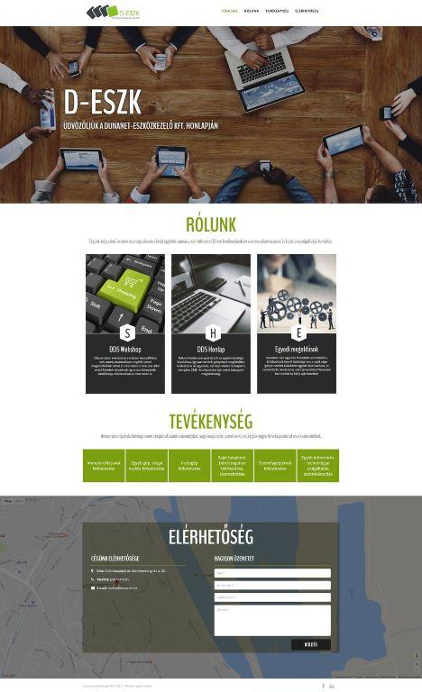 Dunanet-Eszközkezelő Kft. weboldala