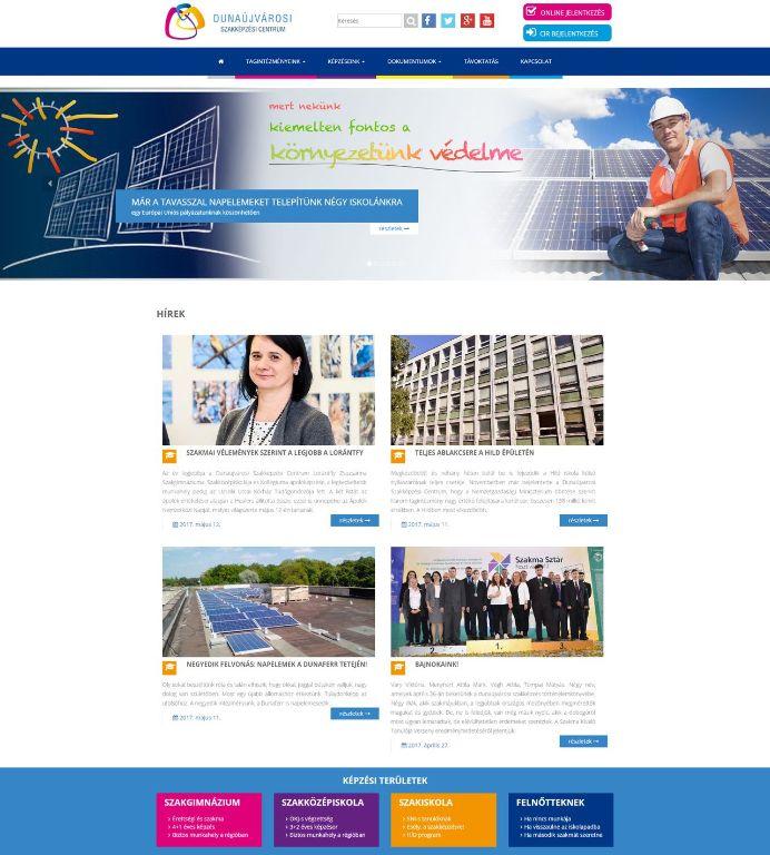 Dunaújvárosi Szakképzési Centrum honlapja
