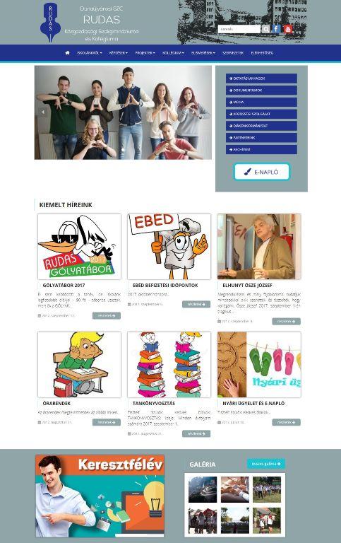 DSZC Rudas Közgazdasági Szakgimnáziuma és Kollégiuma honlapja